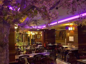 Главный зал в ресторане японской кухни Matsuyama, Париж.